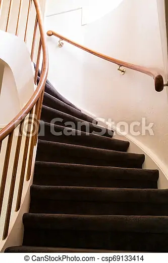 Modern Wooden Spiral Staircase With Wooden Steps In A New   Modern Wooden Staircase Designs   Wood Carving Wooden Railing   Railing   Designer   Gallery   Layout
