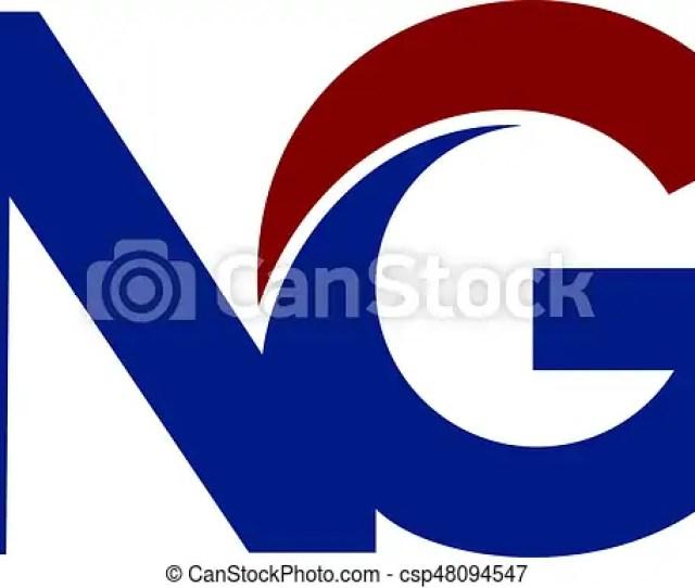 Ng N G Business Letter Logo Design Csp
