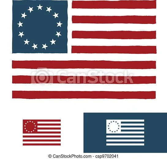 Original American Flag Design Original Vintage American Flag Design With 13 Stars