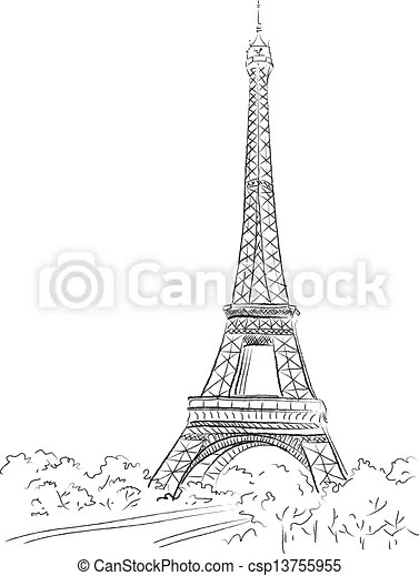 Paris Background With The Eiffel Tower