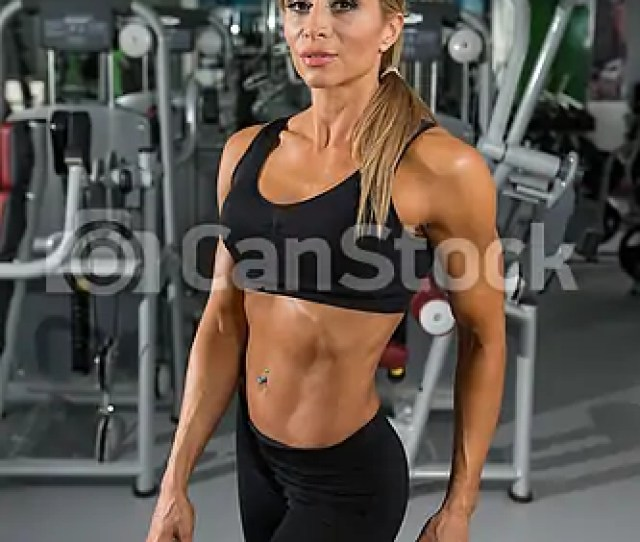 Portrait Of Sexy Mature Woman In Fitness Center Csp