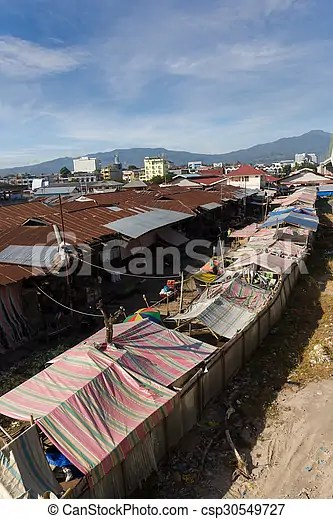 Roof Of Poor Houses By The River Roof Of Poor Houses With Sheet Tin By The River Kota Manado North Sulawesi Indonesia Canstock