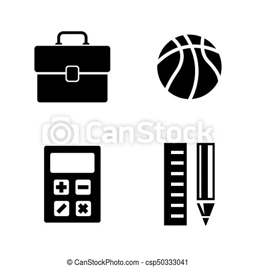 School subjects. simple related vector icons set for video,文法重點提醒, and Sentences