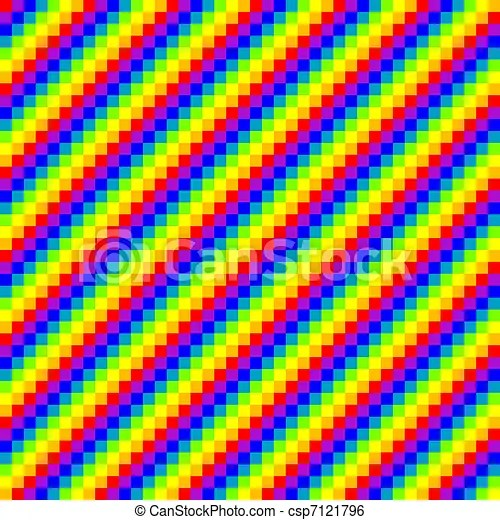 Seamless Pixel Rainbow Background Vector Illustration Canstock
