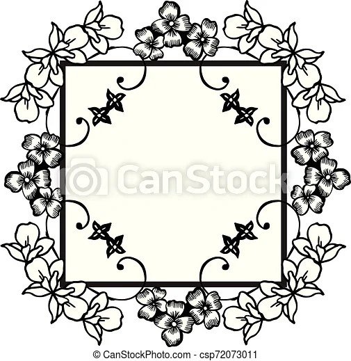 https www canstockphoto com simple flower frame on a white 72073011 html