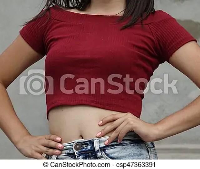 Slender Teen Girl Waist And Torso Csp47363391