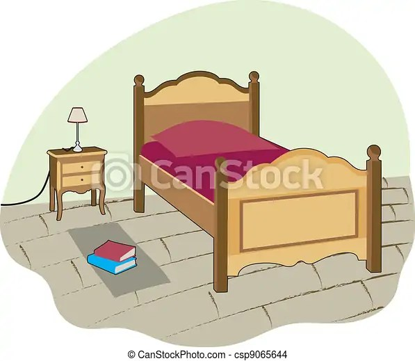 Smal Bedroom Small Room With Bed For One Person Eps