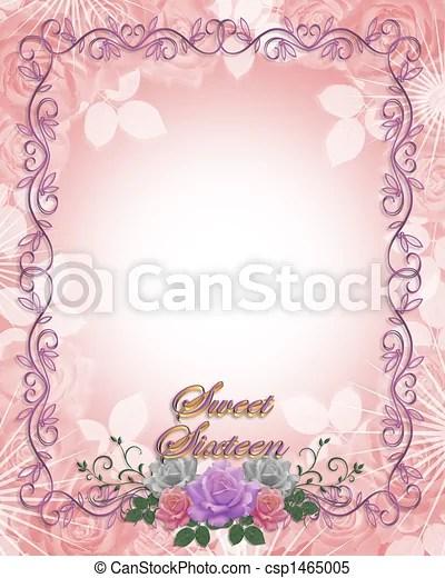 https www canstockphoto com sweet 16 birthday invitation roses 1465005 html
