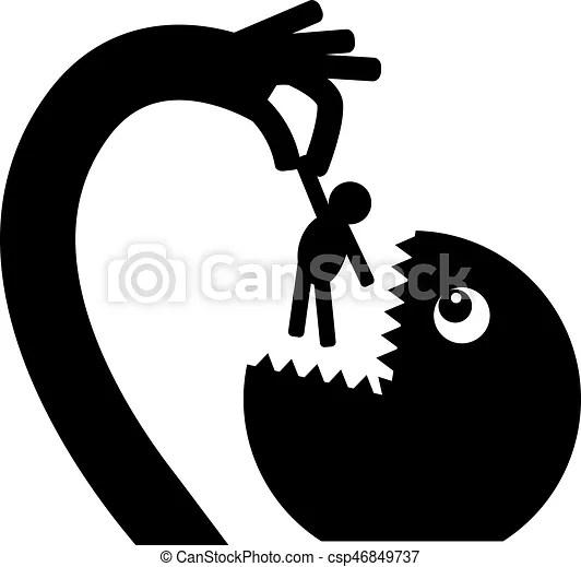 The Monster Eats A Painless Man Csp46849737