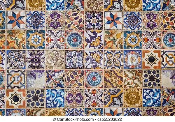 https www canstockphoto com traditional european ceramic mosaic tile 55203822 html