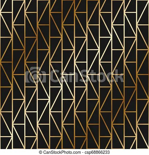 Vector Geometric Art Deco Pattern Seamless Luxury Gold Gradient Design Rich Endless Ornamental Background