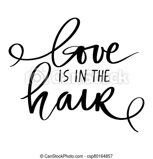 Download Vector handwritten lettering quote about hair. typography ...