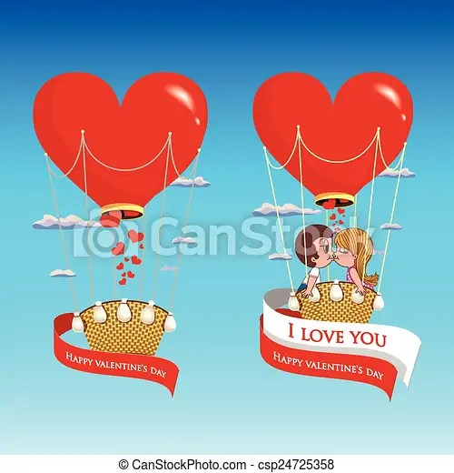 Download Vector. loving couple in a balloon. Vector. couple in love ...