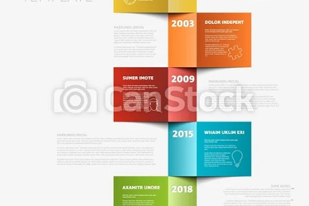 Vertical timeline template  Vector vertical timeline template made     Vertical timeline template   csp52730334