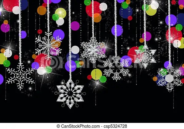Winter Party Hanging Snowflakes With Diamonds And