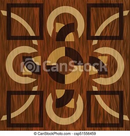 Wooden Inlay Light And Dark Wood Patterns Veneer Textured Geometric Ornament Art