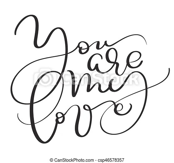 Download You are my love vector vintage text on white background ...