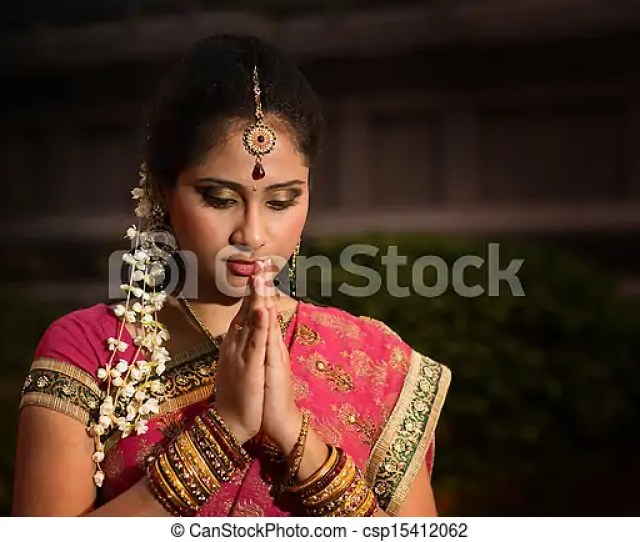 Young Indian Girl Praying Csp