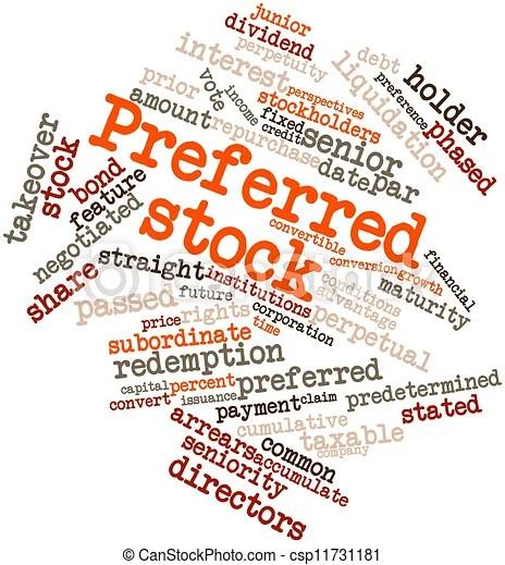 Vorzugsweise aktien. Wortwolke absetzen für vorgezogene aktien mit verwandten kennzeichen und bedingungen.