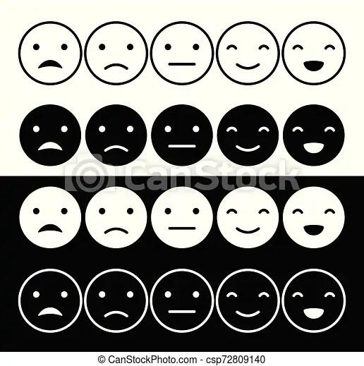 Escala Del Humor De Los Emoticons Ilustracion Del Vector