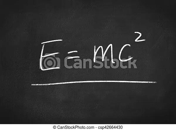 Einstein fórmula e=mc2.