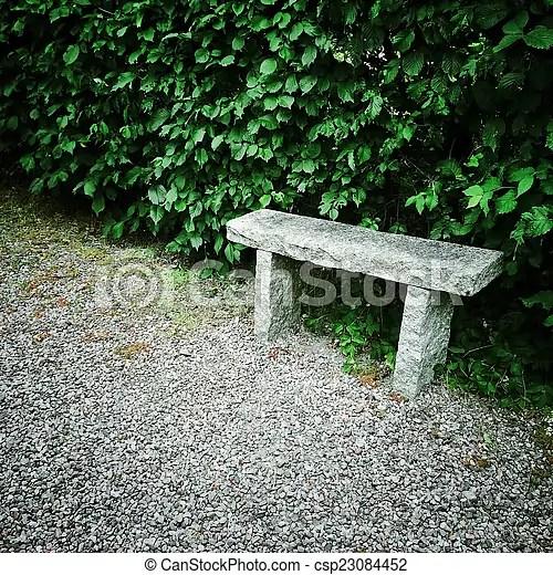 ete jardin pierre banc garden ete pierre vieux banc canstock