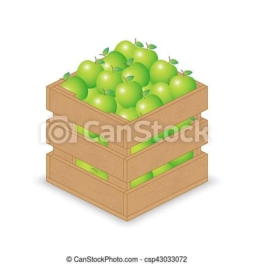 https www canstockphoto fr bois vert caisse pomme 43033072 html