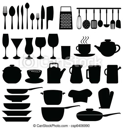 Clipart Vecteur De Ustensiles Objets Cuisine Cuisine