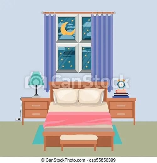 couleur nuit fenetre fond chambre a coucher paysage