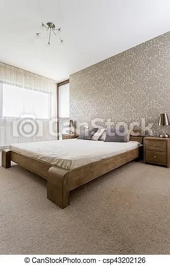 lit bois chambre a coucher