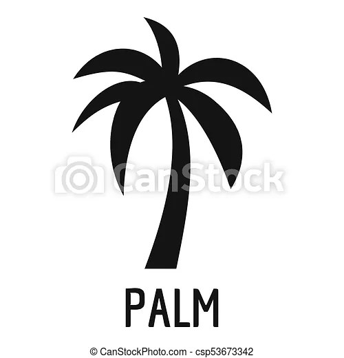 Noir Style Icone Palmier Simple Icon Icone Toile Palmier Simple Illustration Canstock
