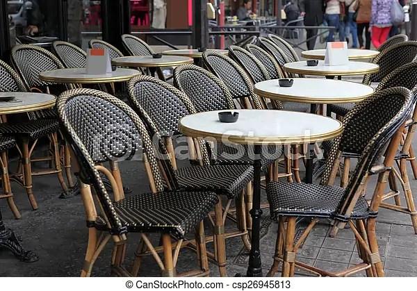 https www canstockphoto fr paris fra rue vue tables chaises 26945813 html