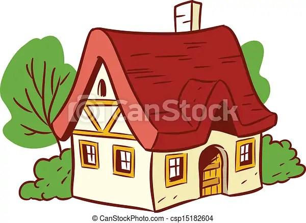 Petite Maison Dessin Anime House Isole Illustration Arriere Plan Fait Petit Blanc Spectacles Dessin Anime Style Canstock