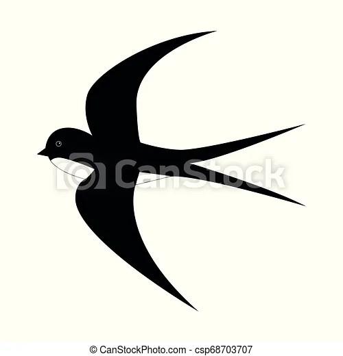 Printemps Isole Dessin Anime Mouvement Arriere Plan Noir Hirondelle Blanc Mouche Chaud Illustration Printemps Canstock