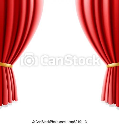 rideau blanc theatre rouges