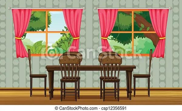 salle manger colore