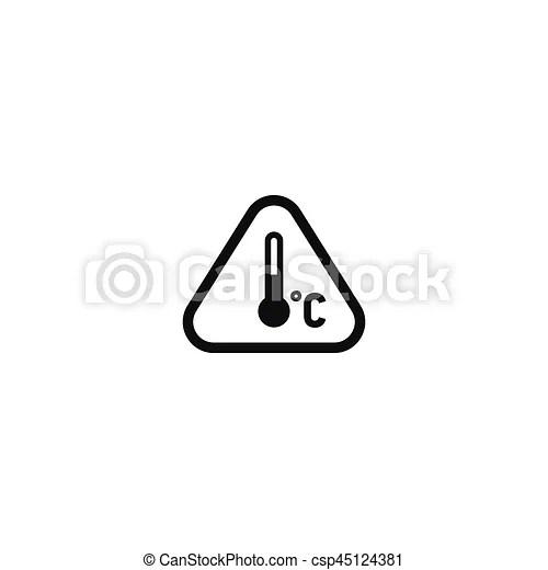 symbole attention regime isole temperature