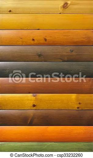 Couleur Vernis Bois Palette Echantillons Canstock