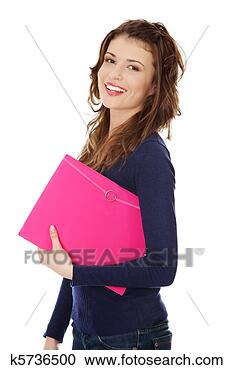 Stock Photography - Happy teen student girl. Fotosearch - Search Stock Photos, Pictures, Wall Murals, Images, and Photo Clipart