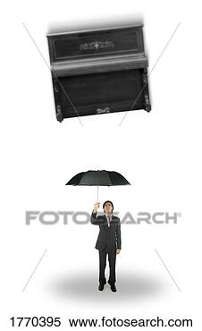 Stock Image - falling piano.  fotosearch - search  stock photos,  pictures, images,  and photo clipart