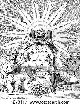 Picture - 'satan in all  his glory', 1792.  fotosearch - search  stock photos,  pictures, images,  and photo clipart