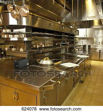 Stock Photo - restaurant kitchen.  fotosearch - search  stock photos,  pictures, images,  and photo clipart