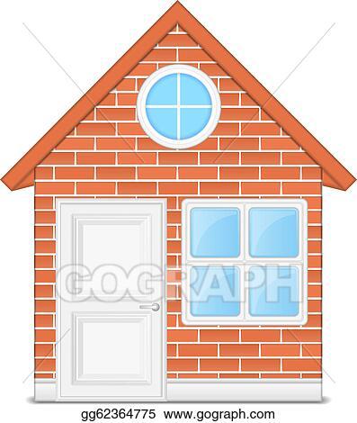 Vector Art Brick House Clipart Drawing Gg62364775 Gograph