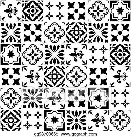 https www gograph com clipart geometric vector tile design portuguese or spanish gg98700665 html