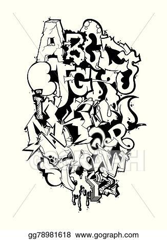 Graffiti Font Alphabet Letters Hip Hop