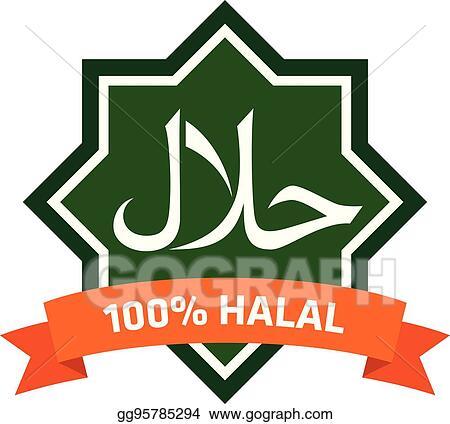 Vector Illustration Halal Logo Eps Clipart Gg95785294 Gograph