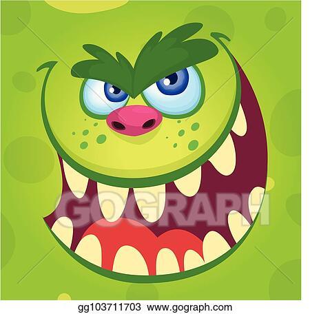 Vector Clipart Halloween Illustration Goblin Or Troll Vector