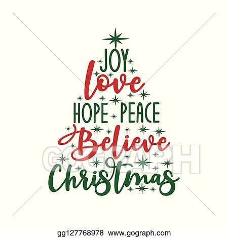 Download Vector Illustration - Joy love hope peace believe ...