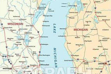 Lake Michigan Map Edi Maps Full HD Maps - Lake michigan circle tour map