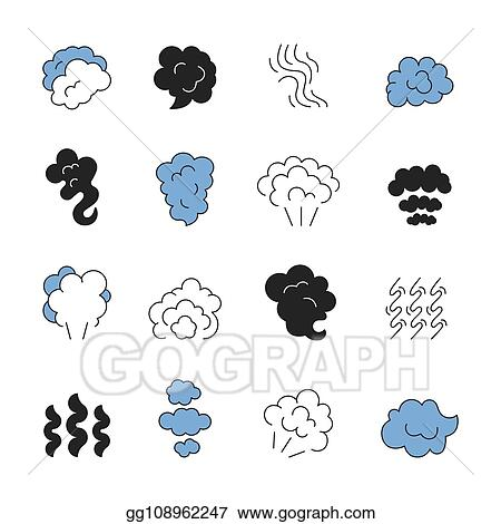 EPS Illustration Steam Line Symbols Smell Of Cooking Food Vapour Smoke Outline Vector Icon